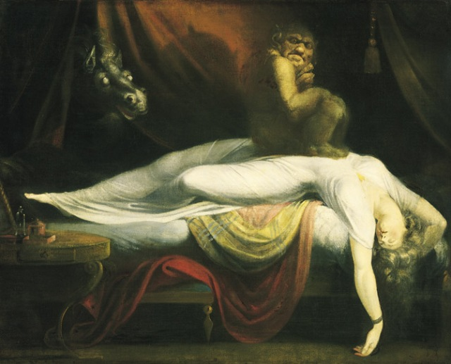 Sleep paralysis may have been the inspiration for this 1781 painting, The Nightmare, by Anglo-Swiss artist Henry Fuseli.