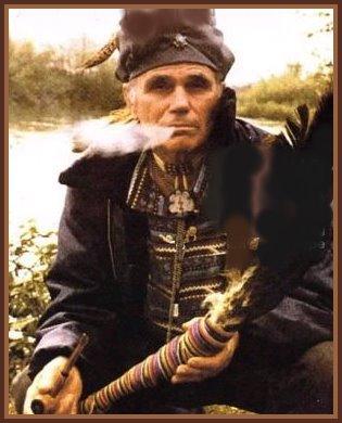 Native American shaman Rolling Thunder (1916–1997)