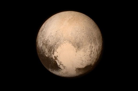 Among the surprises on Pluto is a large, heart-shaped crater that might have come from a direct hit during the LHB 4 billion years ago.